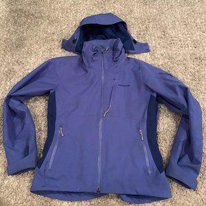 patagonia blue/purple ski jacket
